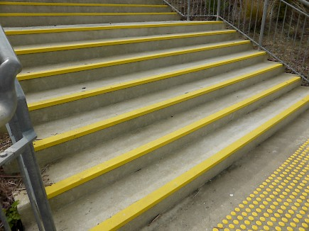 Anti-slip on stairs at Primary School