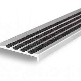 Aluminium Safety Stair Nosing with Grit Insert