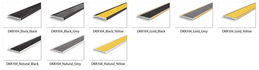 Stair Nosing Dkr104 Tredfx Domain Series Total Tactilez Nz